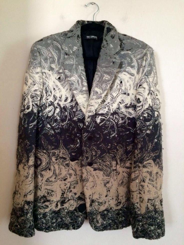 """""""Swirl Yarn Felted Boiled Wool Jacket"""" by Raf Simons. 2008."""