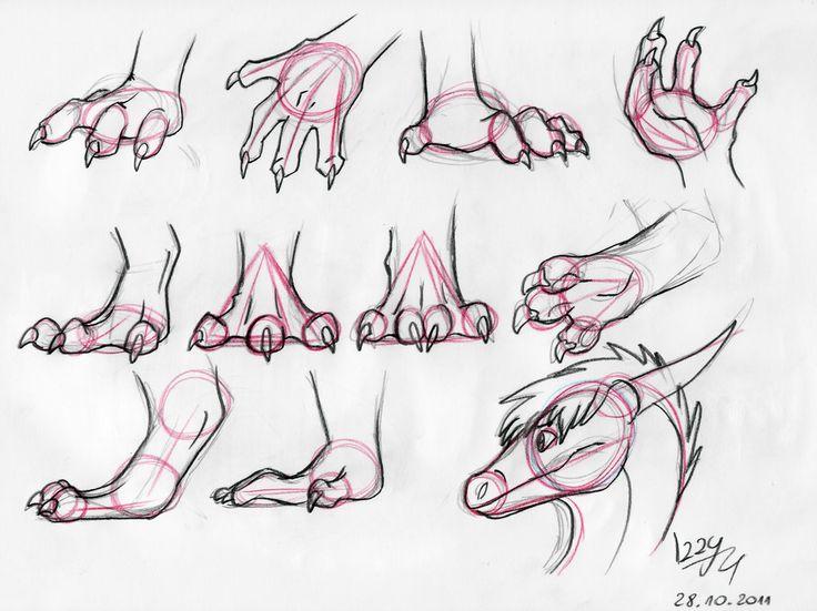 Dragon hands and feet Tutorial by *IzzyRedDragon on deviantART