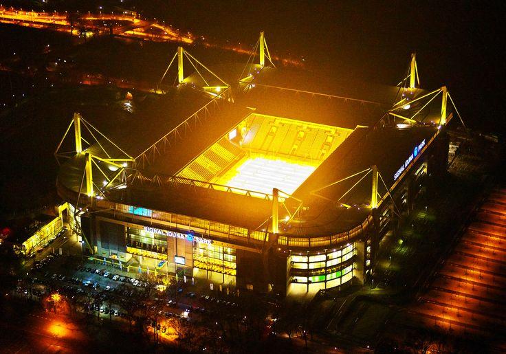 Westfalenstadion at night