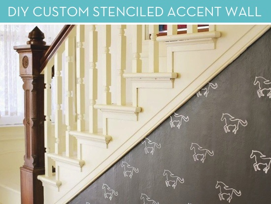 How to make a custom stencil for an accent wall! #DIY #decor