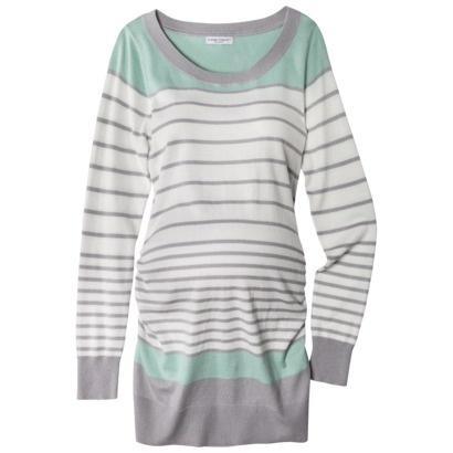 Liz Lange® for Target® Maternity Long-Sleeve Pullover Sweater - Blue/Gray