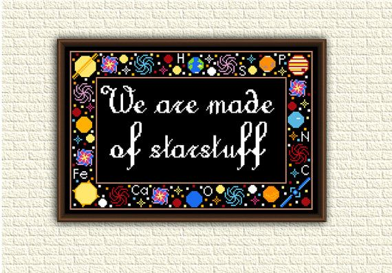 Astronomy  Cross Stitch Pattern pdf  We are made of