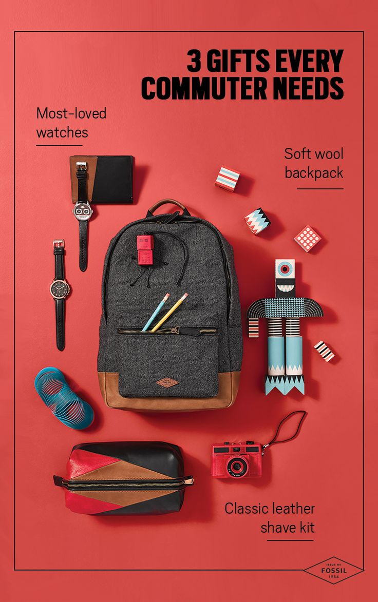 This holiday season, commute in style with Fossil's unique and durable products ready for any adventure! From soft-wool backpacks to classic leather shave kits, discover Fossil's collection of goods focused on heritage fabrics and custom hardware. Gift the man in your life with backpacks that have you feeling extra cool.