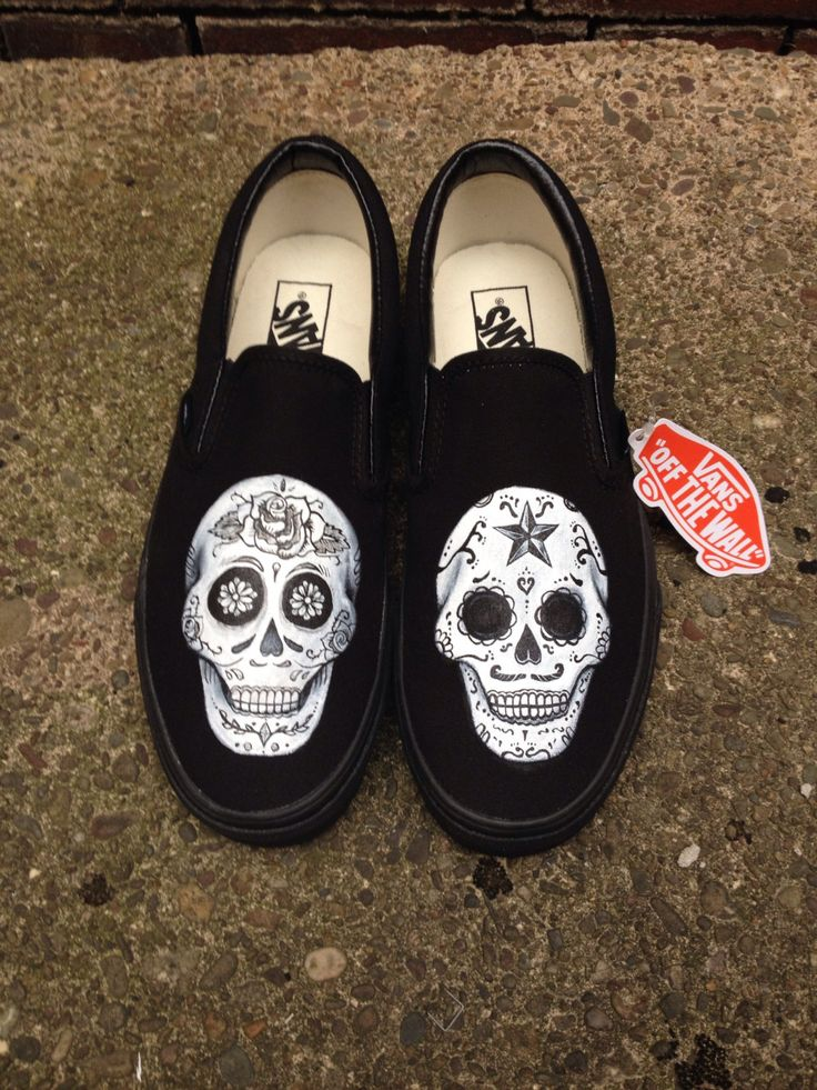 Day of the Dead Sugar Skull Shoes Vans, Toms or Converse ...