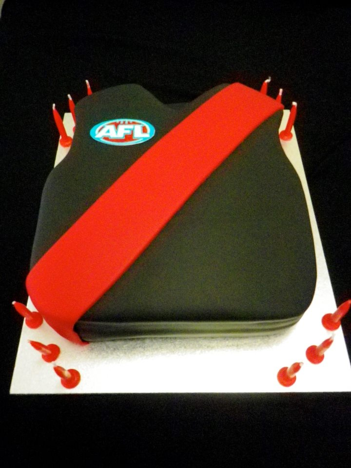 Essendon jersey cake