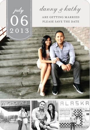 Our save the date magnet!