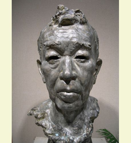 Portrait by Hiro Kawabata #contemporaryfigurativeart #sculpture #art