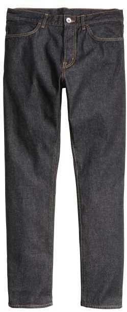 H&M - Straight Regular Jeans - Dark denim blue - Men