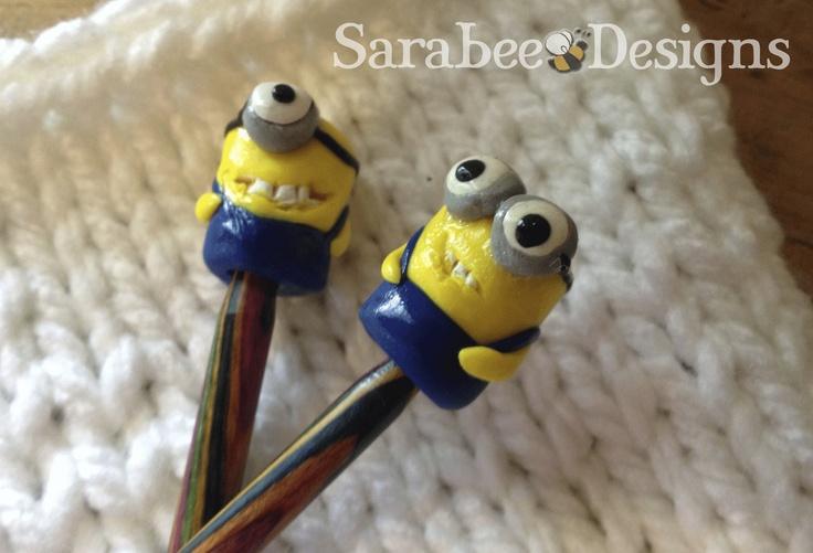 Minions Poke-Me-Knots-- Large. $7.00, via Etsy.