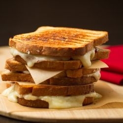 Red, White and Blue Grilled Cheese recipe