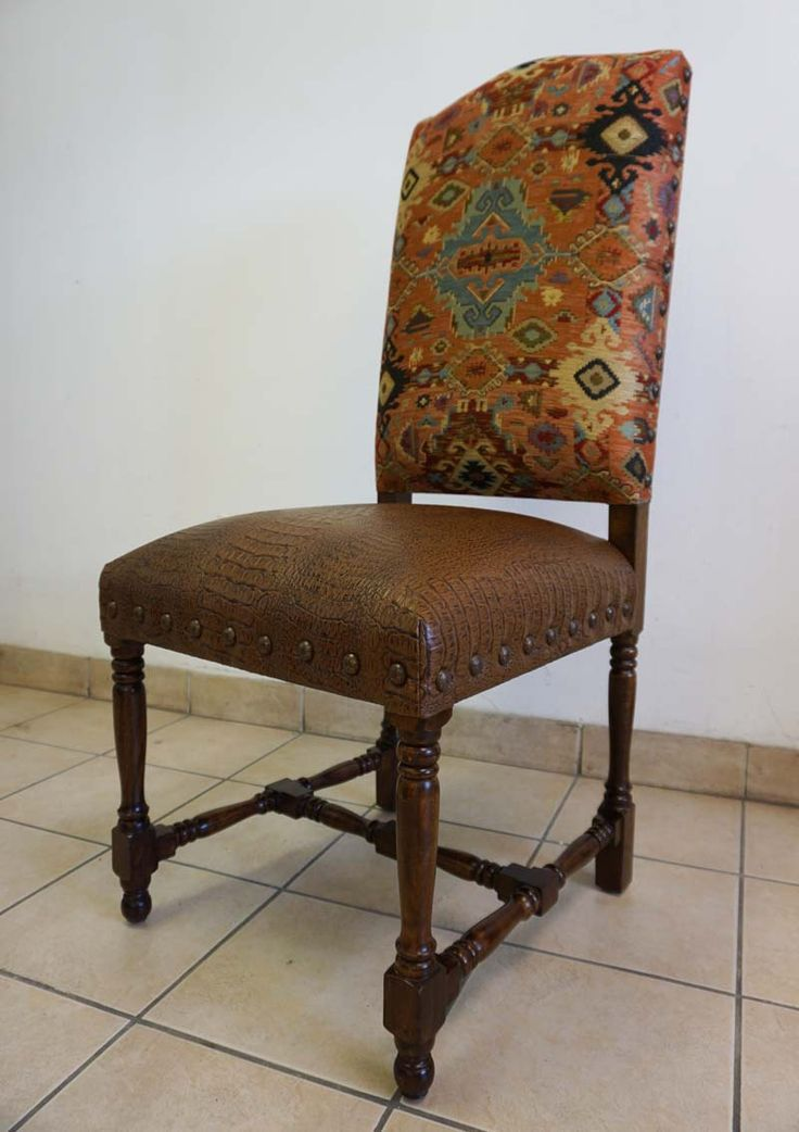 Adobe Western Dining Chair Fabric, Western Dining Room Chairs