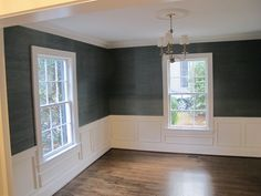 peacock grasscloth dining room - Google Search