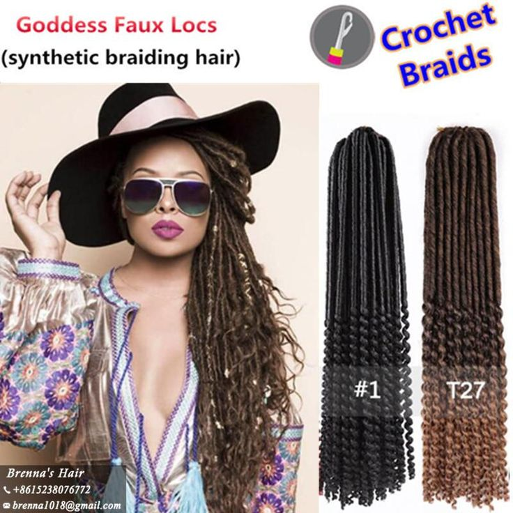 Janet Collection 20inch Faux Locs Curly Crochet Hair Extensions Crochet Goddess Locs Synthetic Braiding Hair 24 Strands/pack for Black Women Goddess Locs Crochet Braids Hair Extension Online with $7.55/Piece on Kadoyeehair's Store | DHgate.com