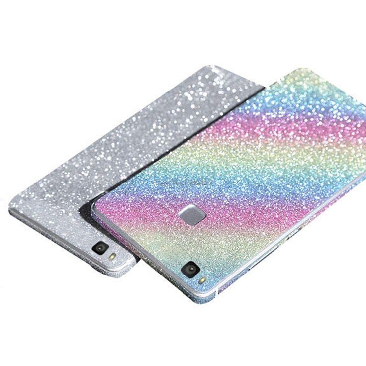 Full Body Glitter Bling Sticker For Huawei P9 Lite Strass Coque Luxury Shining Skin Cover Case For P9Lite