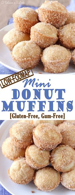Donut Muffins {Low-FODMAP, Gluten-Free, Gum-Free} / Delicious as it Looks