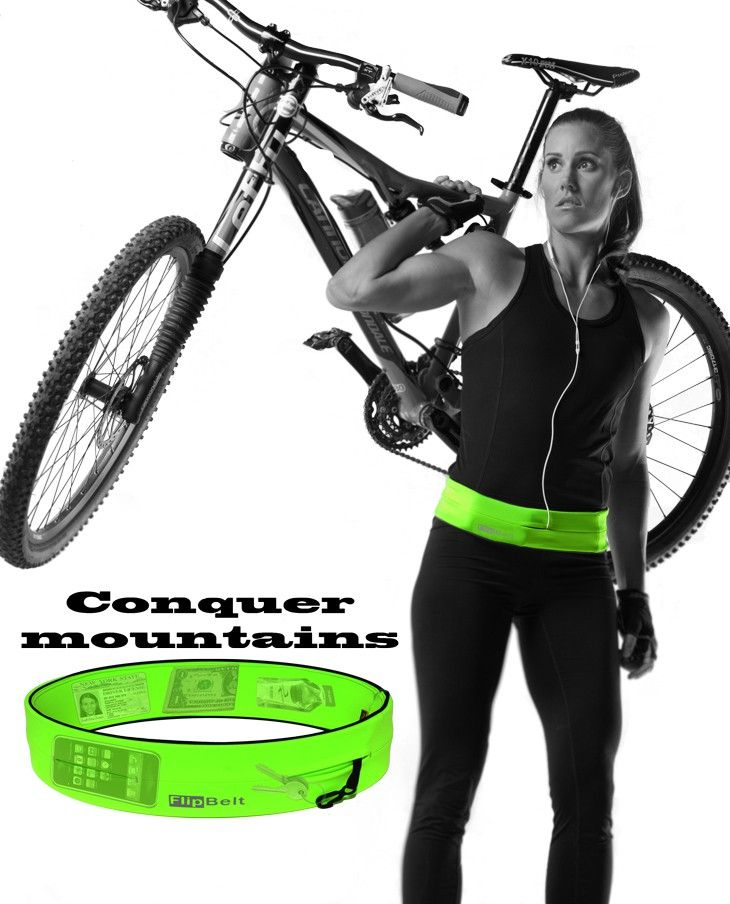 Everything all in one place! This is perfect for when you bike   FlipBelt