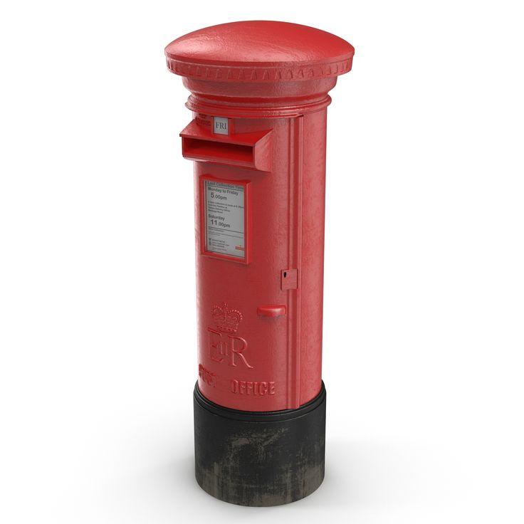 British Post Box 3d model http://www.turbosquid.com/3d-models/british-post-box-3d-model/912896?referral=3d_molier-International