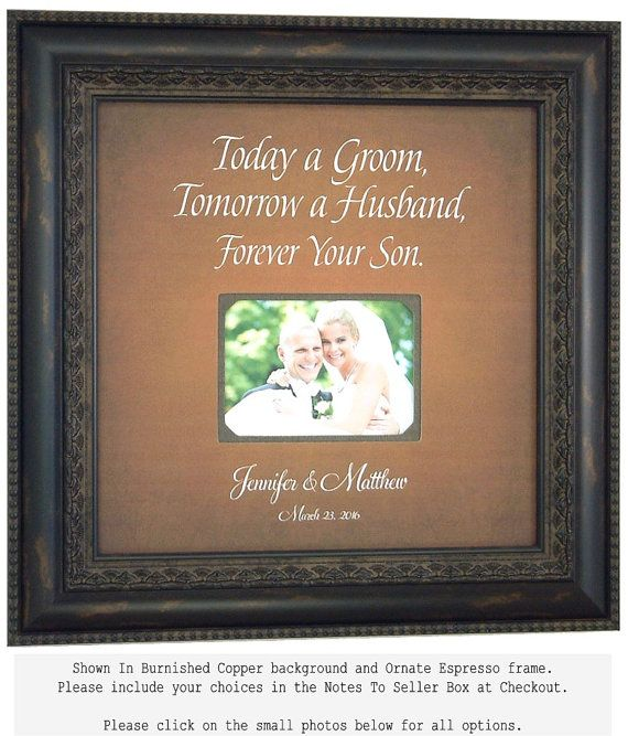 Wedding Gift For Parents Personalized Handmade Photo Frame 16 X