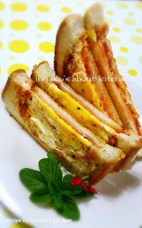 ハムチーズエッグホットサンド