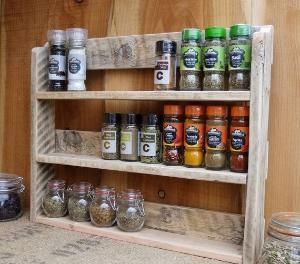 Large Rustic Spice Shelf / Kitchen Spice Rack / Herb Cabinet Made From Pallet Wood - 3 Finishes Available. by deborah