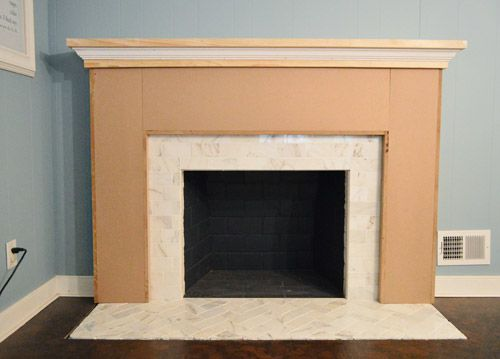 Young House Love | Our Fireplace Makeover: Building A New Mantel…