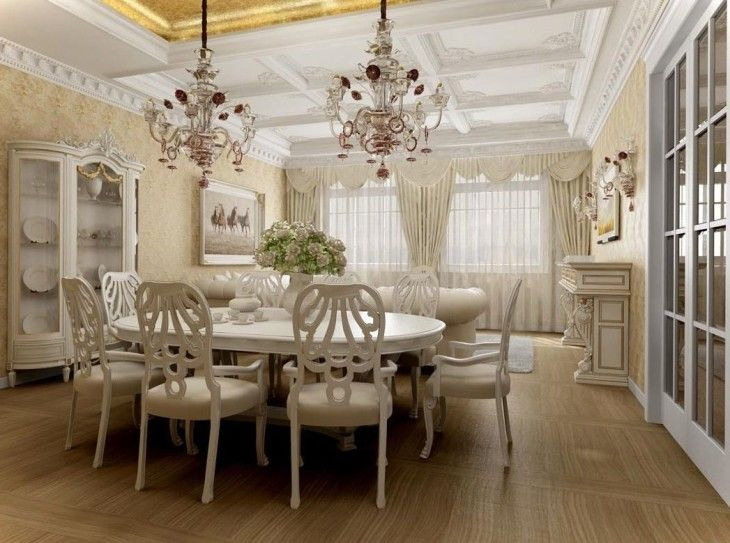 Friendly Tone For Fresh Classy Dining Room Fully White Theme - pictures, photos, images