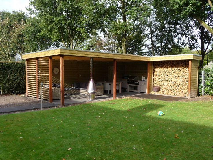 Project valkenswaard een prachtige houten overkapping houthandel van der heijden veranda - Ontwerp tuinhuis ...