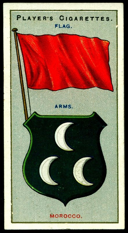 Cigarette Card - Arms & Flag of Morocco