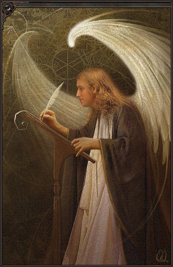 """Metatron Angel"" by Eric L Williams, Photoshop Artwork, http://www.ewillustration.com/illustration/illustration_2.0_39.htm"