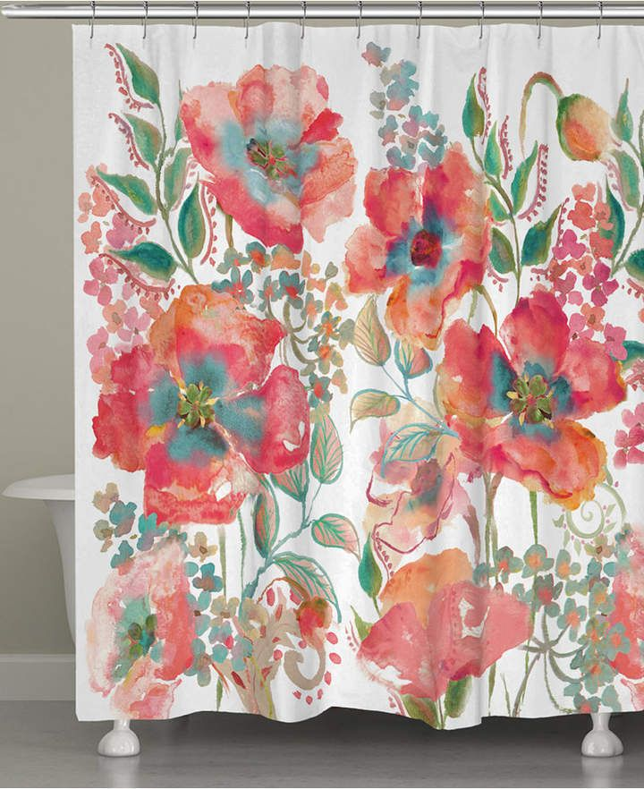 Bohemian Popp Shower Curtain Bedding Floral Shower Curtains