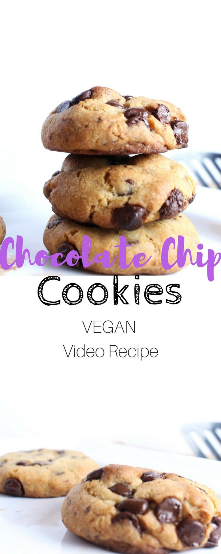 Soft and Chewy Vegan Chocolate Chip Cookie Recipe - This my favourite vegan recipe for chocolate chip cookies. It does not require any crazy ingredients and will be ready in under 30 minutes.