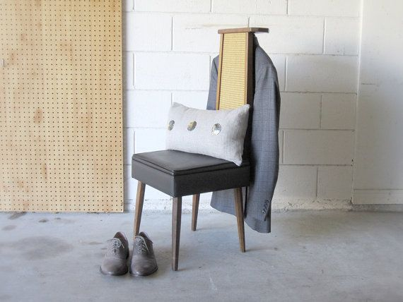 Era valet chair butler chair wooden and black mid century chair