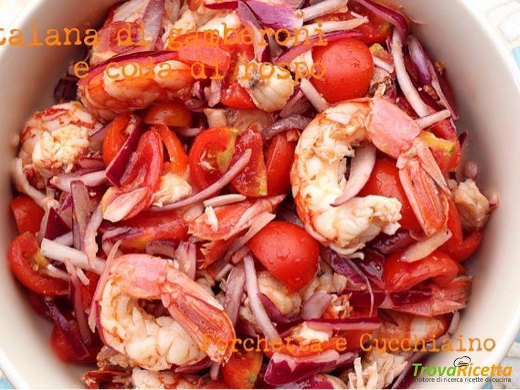Catalana di gamberoni e coda di rospo  #ricette #food #recipes