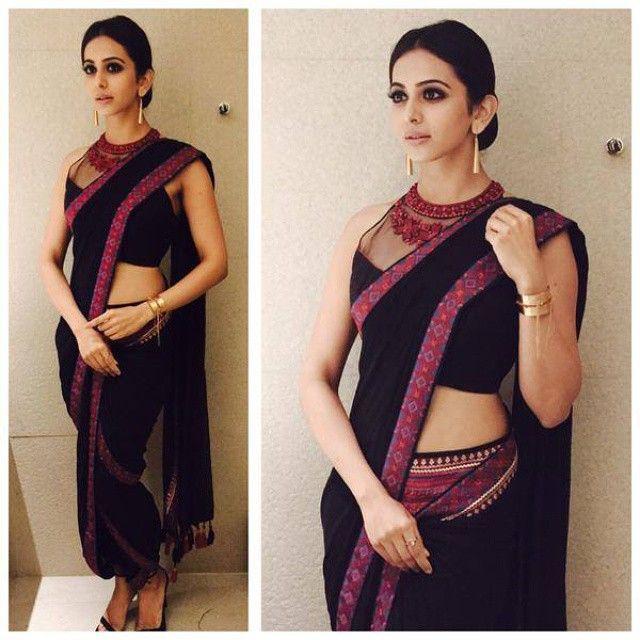 Rakul Preet in a Tarun Tahiliani outfit at the CineMAA Awards 2015. #TarunTahiliani #RakulPreet #CineMAA #awards #style #fashion