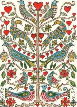 Pennsylvania Dutch folk art called fraktur.