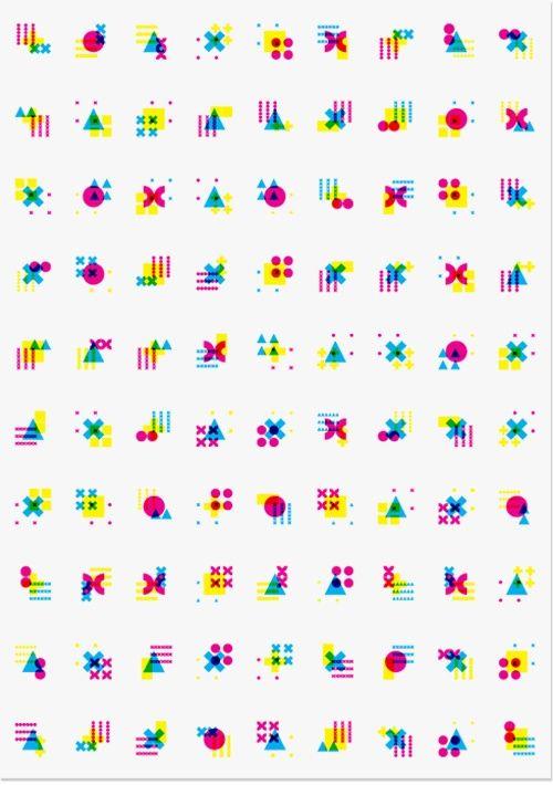 Kaai Theater | Modern Practice geometric colorful icon: