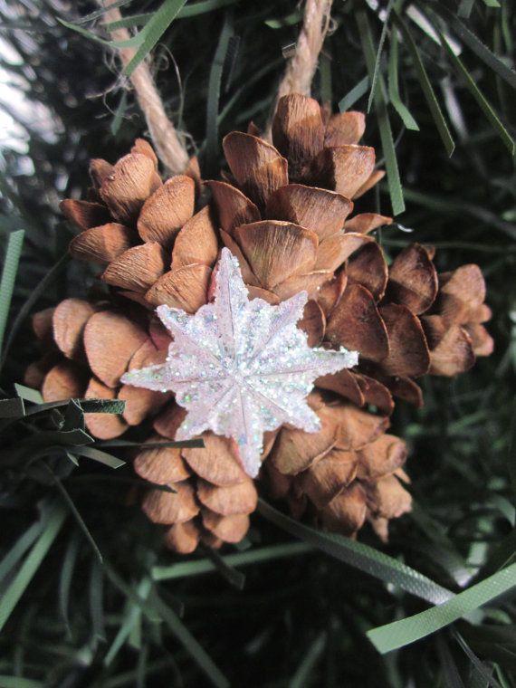 Pino Mini cono corona ornamenti Topper di RedbirdCountryDecor
