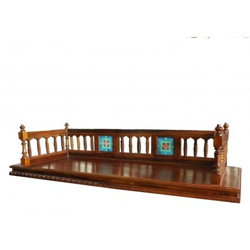 3 seater teak wood single plank wooden jhula with for Living room jhula