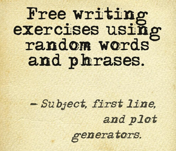 creative writing exercises daily Creative writing is fun but there are some rules check out: kurt vonnegut's rules for writers (rules in bold and some writing exercises below) rule 1 use the time of a total stranger in such a way that he or she will not feel the time was wasted.