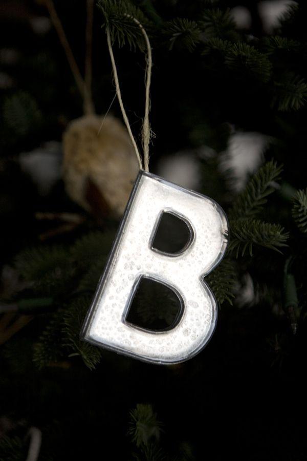 DIY Mercury Glass Letter Ornaments
