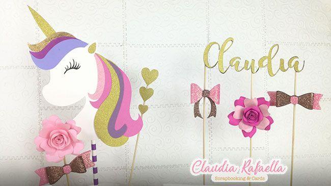 Tarjeta Unicornio Invitación De Cumpleaños Con Moldes