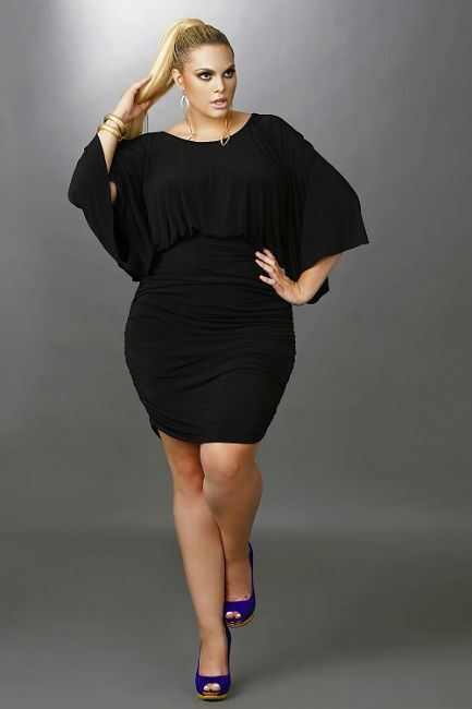 Plus size women black dresses