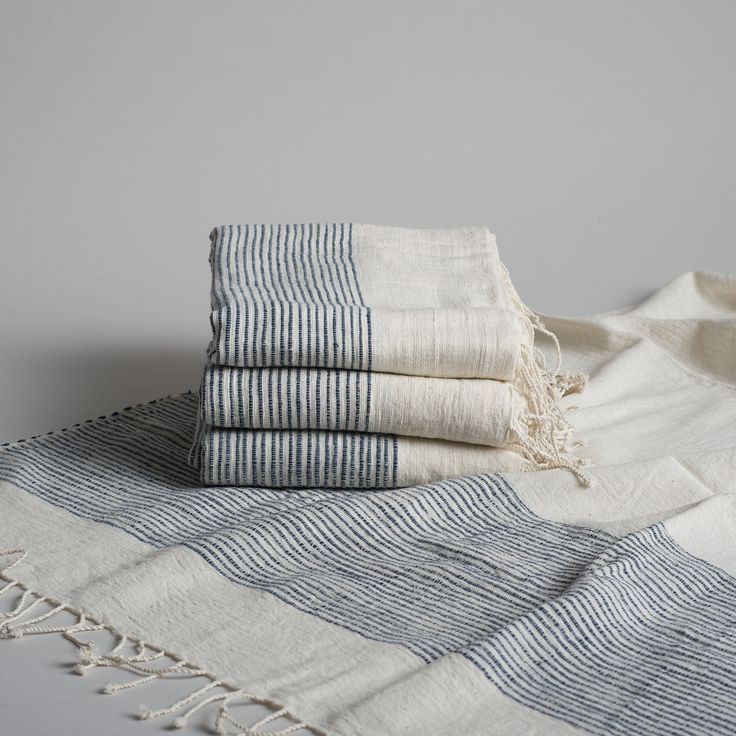 Fair Trade Ethiopian Bath Sheet – Timeless appeal. Hand-spun handmade traditionally-inspired bath collection produced in Ethiopia by women. This process imbues each piece with it's own personal character as thread and tension vary from spinner to spinner and weaver to weaver. #creativewomen