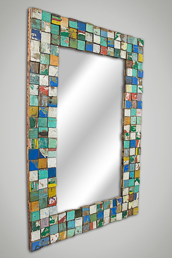 Mosaic Mirror- Large- maybe I could redo the lg mirror out in the guest cabin by putting mosaic tiles around the edge...