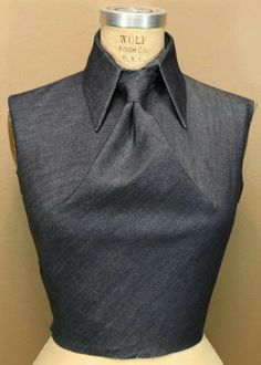 i think this is so cool and super-classy! Fabric manipulation | Origami shirt, tie knot but no tie :) . . .