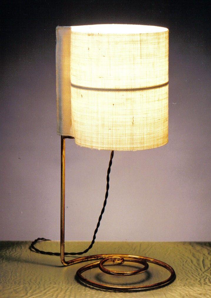 Lampada da scrivania in ferro battuto