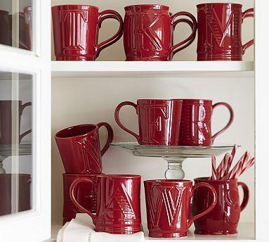 Alphabet Mugs - Red #potterybarn