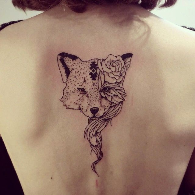 Fox for Franziska ! ⚡️ #tattoo #tattoofox #cheyenneillus #blxckink #blackworkers #blackworkerssubmission