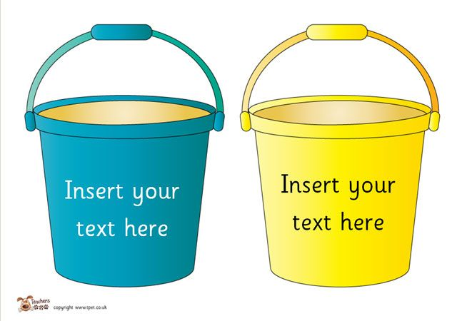 Buckets for Seaside Writing - Teacher's Pet - FREE Classroom Display Resources for Early Years (EYFS), Key Stage 1 (KS1) and Key Stage 2 (KS2)