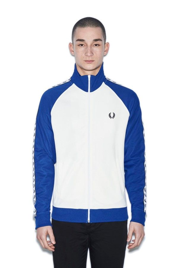 Sports Authentic Colour Block Taped Track Jacket